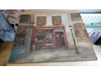 French Cafe Canvas Pictures
