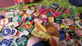 BEERMATS over 2000 from everywhere old and modern ideal for mancave