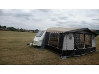 Elddis shamal xl caravan with awning