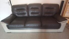 3 seater leather sofa only had for a year