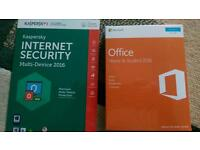 New + Unopened. Microsoft Office Home & Student 2016 + Multi-Device Internet Security