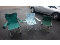 Camping chairs x3