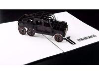 3D pop up Greeting Card Kahn Automobile Flying huntsman 6X6 Single Card