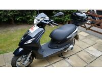 Piaggio Fly 125 ie 2016 and Stormguard Cover
