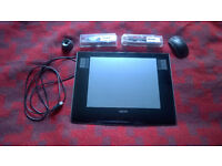 A4 Wacom Intuos PTZ-930 with Pen, Airbrush, Mouse and spare nibs