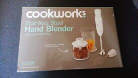 Brand New Cookworks S. Steel Hand Blender