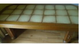 Solid Wooden Coffee Table with tiled top (heavy) ''OFFERS''