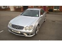 Mercedes CLK320 CDI Sport, auto, Silver, high spec, excellent condition for the mileage, FSH