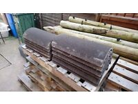 11 new antique brown sandfaced marley segmantal ridge tiles roof roofing
