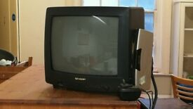 CRT TV and Freeview box