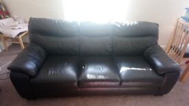 Full Leather Sofa For Sale. Dark brown (almost black) Comes with Guardsman leather care kit