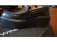 Windsor Smith Platform Loafers Real Leather Shoes