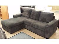 SCS Dreamer - DARK GREY Storage Sofa Bed + LHF CHAISE (RRP £1600) + FREE LOCAL DELIVERY