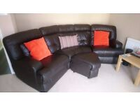 *Leather Corner Sofa & Storage Foot Stool* Great Condition!