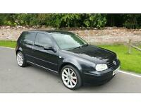 VW GOLF GT TDI 2003, THREE DOOR. 100,000 MILES. BLACK WITH IVORY LEATHER.