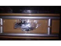 B&Q Matt aluminium effect rod handles (kitchen door etc)