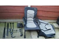 CYPRINUS WHOLE HOG CHAIR WITH ALL ATTATCHMENTS AND BAG