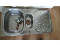 double sink with tap use but good condition