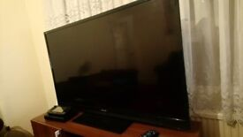 LED 60 inch Sharp 1080p full HD television for sale comes with remote and power cable