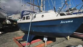 Easter update SOLD March 25 Westerly Pageant, 23 foot bilge keel yacht. Lying Fairlie Quay Marina