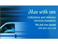 Man with Van, collection, delivery. Chelmsford,Basildon,Brentwood,Pitsea