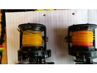 2 SHIMANO SPEEDMASTER multiplier fishing reels run very smooth