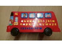 VTech Playtime Bus with Phonics, letters, numbers, music and quiz. Full working order with batteries