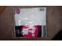 Brand new pack of 2 girls white polo shirts age 10-11 years