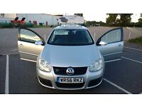 VOLKSWAGEN GOLF GT TDI 2.0L DIESEL SILVER 5DR 2006/2007 ONLY 47K MILES! GREAT CONDITION! ONLY £4995!