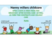 School holiday childcare