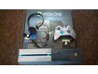 Xbox One 1TB Halo 5 Edition-with accessories- for sale.