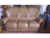 Sofa for sale in Perth -Italian leather great condition