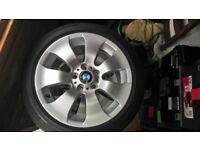 4 x original BMW alloy wheels. £200 ONO.