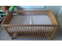 Kids Bed // Argos Cot Bed (Solid Pine) + Deluxe Foam Mattress + Bedding // Whole lot for £60