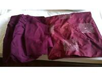 Burgundy king size duvet cover, sheets and pillowcase