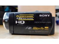 Sony HDR-CX505VE Full HD Camcorder with 32GB built in Hard Drive and 12 Megapixel stills camera.