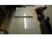 3 glass and chrome coffee tables in good condition, can deliver