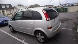 Vauxhall Meriva 5 door, Silver, good condition 78,000 1.6 petrol
