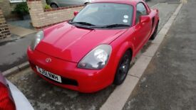 MR2 mk 3 hard and soft tops new tyres ,battery ,and o2 sensor mot july 2019