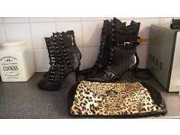 Miss Selfridge bag with (catwalk) shoes & funtasma shoes (size 8)