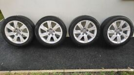 "4 Audi 17"" Alloy wheels"