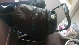 Graco comfort stroller with temperature gauge shows time