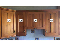 Solid Pine Kitchen Units / Cupboards / Drawers