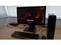"Alienware X51 pc (i7-2600 3.4GHz, 8GB RAM, 1TB HDD, GTX 555) + 23"" monitor+keyboard+mouse"