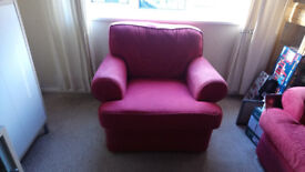 Red Sofa and 2 Chairs