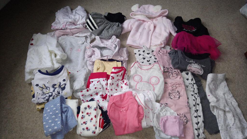 Girls' Clothing (0-24 Months) Bundles Girls 0-3 Months Short Sleeve Bodysuit Vest Bundle