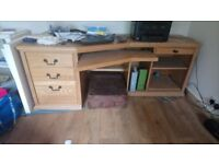 Large solid wood office desk