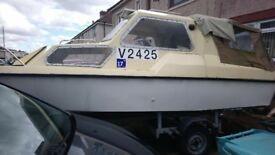 Leisure boat ready to go