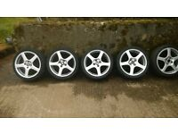 5x Kahn Ford fitting 17inch alloy rims