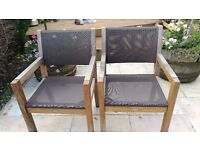 garden hardwood armchairs plus two benches